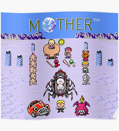 Earthboudn Mother Reference Smash Brothers Poster