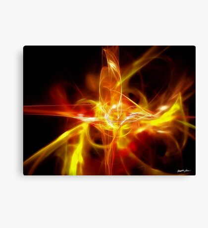 Creature Gold Red Canvas Print