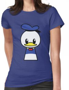 Mr Duck Womens Fitted T-Shirt