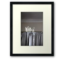 view from the mattress Framed Print