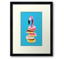 A Famished Flamingo Framed Print