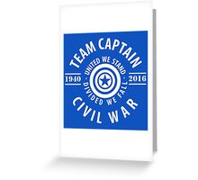 TEAM CAPTAIN - CIVIL WAR Greeting Card