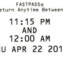 Peter Pan's Flight Fastpass Sticker