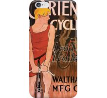 Artist Posters Orient cycles lead the leaders Waltham M'f'g' Co Edward Penfield 0217 iPhone Case/Skin