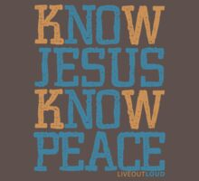 Know Jesus Know Peace No Jesus No Peace One Piece - Short Sleeve
