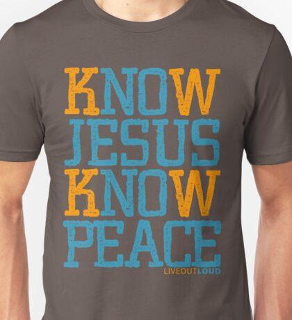 Know Jesus Know Peace No Jesus No Peace Unisex T-Shirt