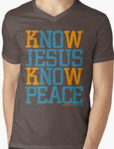 Know Jesus Know Peace No Jesus No Peace Mens V-Neck T-Shirt