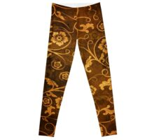 Abstract Floral Grunge Leggings