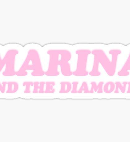 Marina & the Diamonds Pink 'Electra Heart' logo Marina and the Diamonds Sticker
