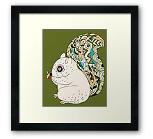 Cute Cartoon Animals Squirrel With Decorative Tail Framed Print