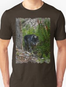 Stalking Grey Wolf and Forest T-Shirt