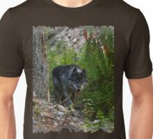 Stalking Grey Wolf and Forest Unisex T-Shirt