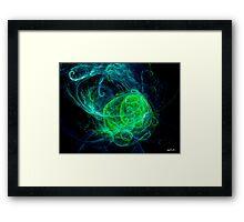 Alien Green Blue Framed Print