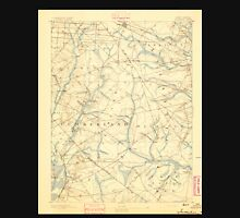 USGS TOPO Map New Jersey NJ Tuckahoe 255405 1893 62500 Unisex T-Shirt