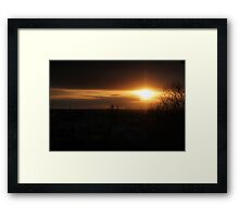 Edmonton sun rise Framed Print