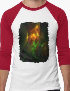 Alien Code Orange-Red Green Men's Baseball ¾ T-Shirt