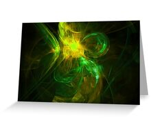 Alien Code 3 Yellow Green Greeting Card