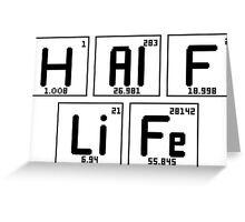"Half-Life ""Periodic Table"" Greeting Card"