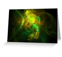Alien Code 2 Yellow Green Greeting Card