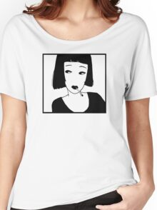 Have a Cig, Girl (black on white) Women's Relaxed Fit T-Shirt
