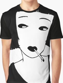 Have a Cig, Girl (black on white) Graphic T-Shirt