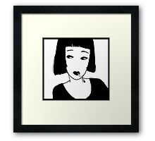 Have a Cig, Girl (black on white) Framed Print