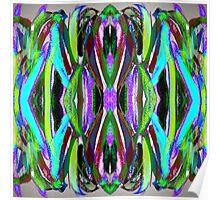Stroking Acrylics Indigo Ribbons Poster