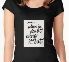 wing it out Women's Fitted Scoop T-Shirt