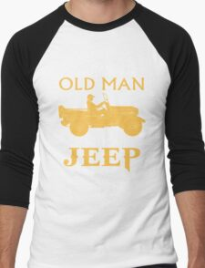 OLD MAN WITH A JEEP Men's Baseball ¾ T-Shirt