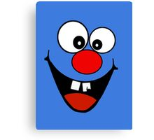 Cracked Tooth - Big Red Nose Cartoon Head Decal Kids Bag Tee Canvas Print