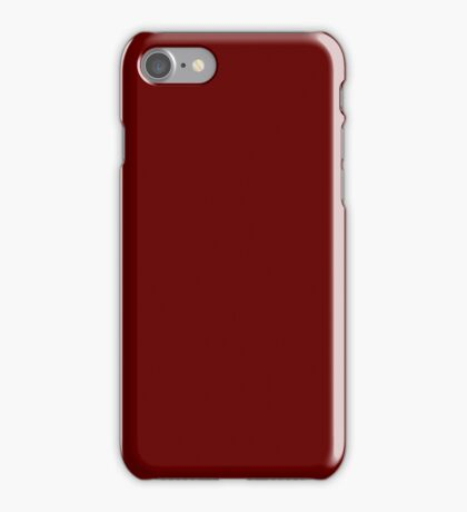 Burgundy Red Solid Color Decor iPhone Case/Skin