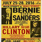 Bernie vs. Hillary poster by BENJAMINMOSS