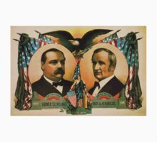 Artist Posters For president Grover Cleveland of New York For vice president Thos A Hendricks of Indiana SS Frizzell 0255 One Piece - Long Sleeve
