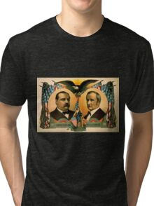 Artist Posters For president Grover Cleveland of New York For vice president Thos A Hendricks of Indiana SS Frizzell 0255 Tri-blend T-Shirt