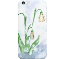 Snowdrop Flowers Painting 3 iPhone Case/Skin