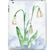 Snowdrop Flowers Painting 3 iPad Case/Skin
