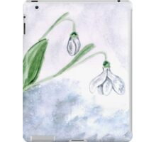 Snowdrop Flowers Painting 4 iPad Case/Skin