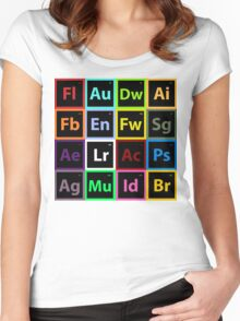 Periodic Table of Design Women's Fitted Scoop T-Shirt
