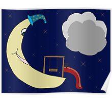 Sleepy Moon Playground Poster