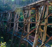 Trestle Bridge. by Jeanette Varcoe.