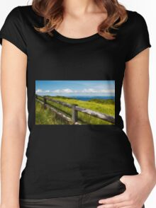 Ocean view 001 Women's Fitted Scoop T-Shirt
