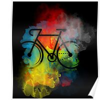 water color bike Poster