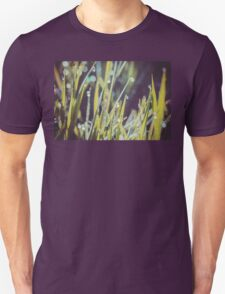 Morning Grass Macro Retro Unisex T-Shirt