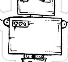 BACKSLASH the robot - white BG Sticker