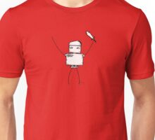BACKSLASH the robot - white BG Unisex T-Shirt