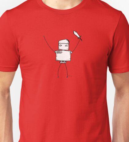 BACKSLASH the robot - white BG Unisex T-Shirt