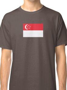 I Love Singapore - Country Code SG - T-Shirt & Sticker Classic T-Shirt