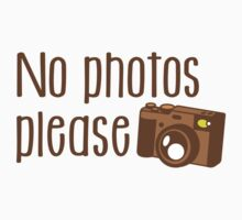 No Photos please with old vintage camera Kids Tee