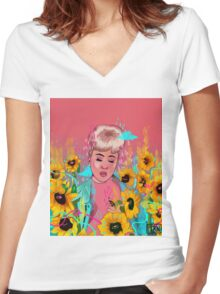 KALI  Women's Fitted V-Neck T-Shirt