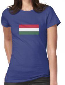 I Love  Hungary - Country Code HU T-Shirt & Sticker Womens Fitted T-Shirt
